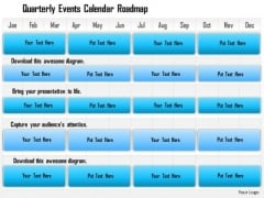 Business Framework Quarterly Events Calendar Roadmap PowerPoint Presentation