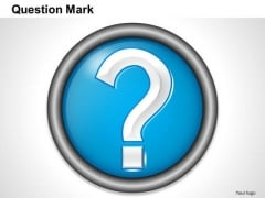 Business Framework Question Mark Template PowerPoint Presentation