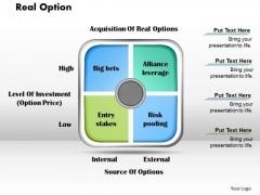 Business Framework Real Option PowerPoint Presentation