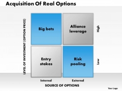 Business Framework Real Options PowerPoint Presentation