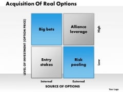 Business Framework Real Options PowerPoint Presentation