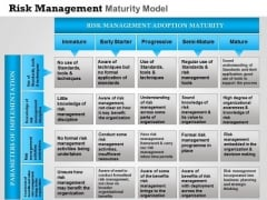 Business Framework Risk Management Maturity Model PowerPoint Presentation
