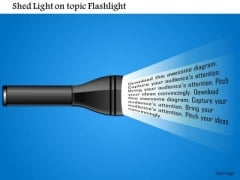 Business Framework Shed Light On Topic Flashlight PowerPoint Presentation