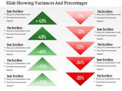 Business Framework Slide Showing Variances And Percentages PowerPoint Presentation