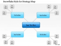 Business Framework Snowflake Placement Style For Strategy Map PowerPoint Presentation