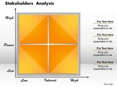 Business Framework Stakeholders Analysis PowerPoint Presentation