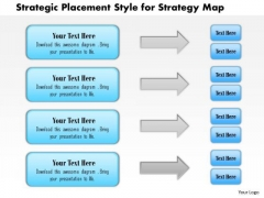 Business Framework Strategic Placement Style For Strategy Map PowerPoint Presentation