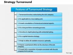 Business Framework Strategy Turnaround PowerPoint Presentation