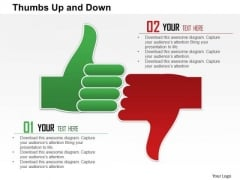 Business Framework Thumbs Up And Down PowerPoint Presentation