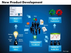 Business Gear Wheels PowerPoint Templates Business New Product Development Ppt Slides