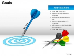 Business Goals Target Bullseye PowerPoint Templates Editable Ppt Slides