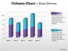 Business Graphic PowerPoint Templates Business Column Chart Data Driven Ppt Slides
