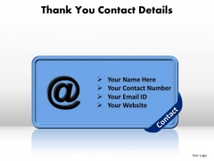Business Graphic PowerPoint Templates Business Thank You Contact Details Ppt Slides