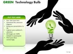 Business Green Technology Bulb PowerPoint Slides And Ppt Diagram Templates
