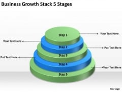 Business Growth Stack 5 Stages How To Plans PowerPoint Slides