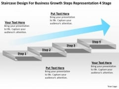 Business Growth Steps Representation 4 Stage Plan Sample PowerPoint Slides