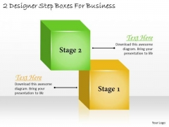 Business Growth Strategy 2 Designer Step Boxes For Marketing Strategies