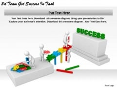 Business Growth Strategy 3d Team Got Success Task Character Modeling
