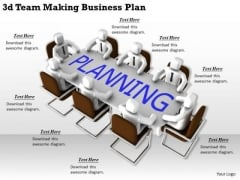 Business Growth Strategy 3d Team Making Plan Character Modeling