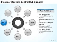 Business Growth Strategy 8 Circular Stages Central Hub Ppt Level
