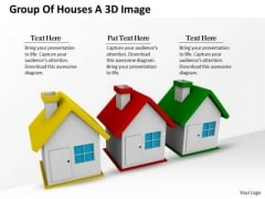 Business Growth Strategy Group Of Houses 3d Image Photos