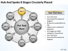 Business Growth Strategy Hub And Spoke 8 Stages Circularly Placed Ppt It