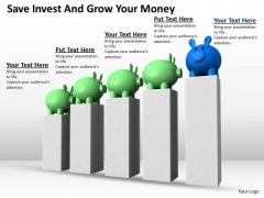 Business Growth Strategy Save Invest And Your Money Clipart Images