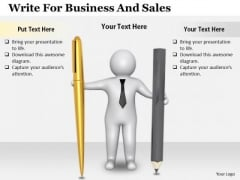 Business Growth Strategy Write For And Sales Concepts