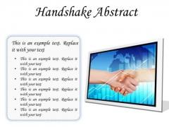 Business Handshake PowerPoint Presentation Slides F