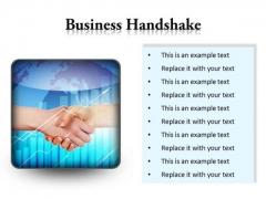 Business Handshake PowerPoint Presentation Slides S