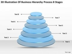 Business Hierarchy Process 8 Stages Template Plan PowerPoint Slides