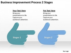 Business Improvement Process 2 Stages Ppt Preparing Plan PowerPoint Templates