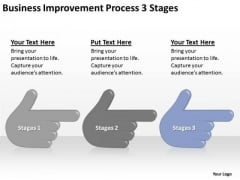 Business Improvement Process 3 Stages Ppt Creating Plan PowerPoint Templates