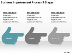 Business Improvement Process 3 Stages Ppt Plan Sample PowerPoint Slides