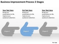 Business Improvement Process 3 Stages Ppt Small Plan Example PowerPoint Slides