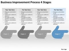 Business Improvement Process 4 Stages Ppt Example Of Small Plan PowerPoint Slides
