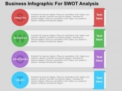 Business Infographic For Swot Analysis PowerPoint Template