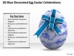 Business Integration Strategy 3d Blue Decorated Egg Easter Celebrations Icons