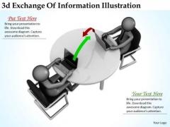 Business Integration Strategy 3d Exchange Of Information Illustration Character Models