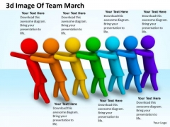Business Integration Strategy 3d Image Of Team March Character Models