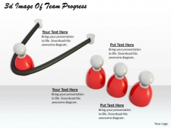 Business Integration Strategy 3d Image Of Team Progress Character Models