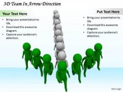 Business Integration Strategy 3d Team Arrow Direction Basic Concepts