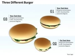 Business Integration Strategy Three Different Burger Success Images