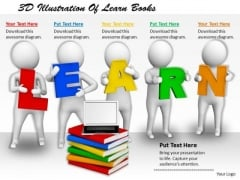 Business Intelligence Strategy 3d Illustration Of Learn Books Concept Statement