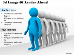 Business Intelligence Strategy 3d Image Of Leader Ahead Characters