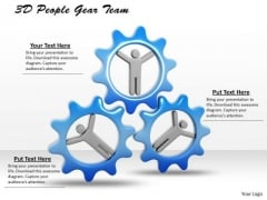 Business Intelligence Strategy 3d People Gear Team Photos