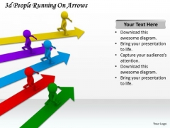 Business Intelligence Strategy 3d People Running On Arrows Basic Concepts