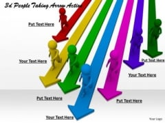 Business Intelligence Strategy 3d People Taking Arrow Action Basic Concepts