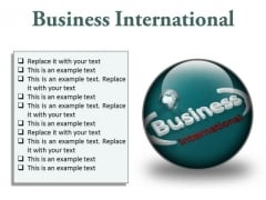 Business International Global PowerPoint Presentation Slides C