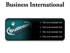 Business International Global PowerPoint Presentation Slides R